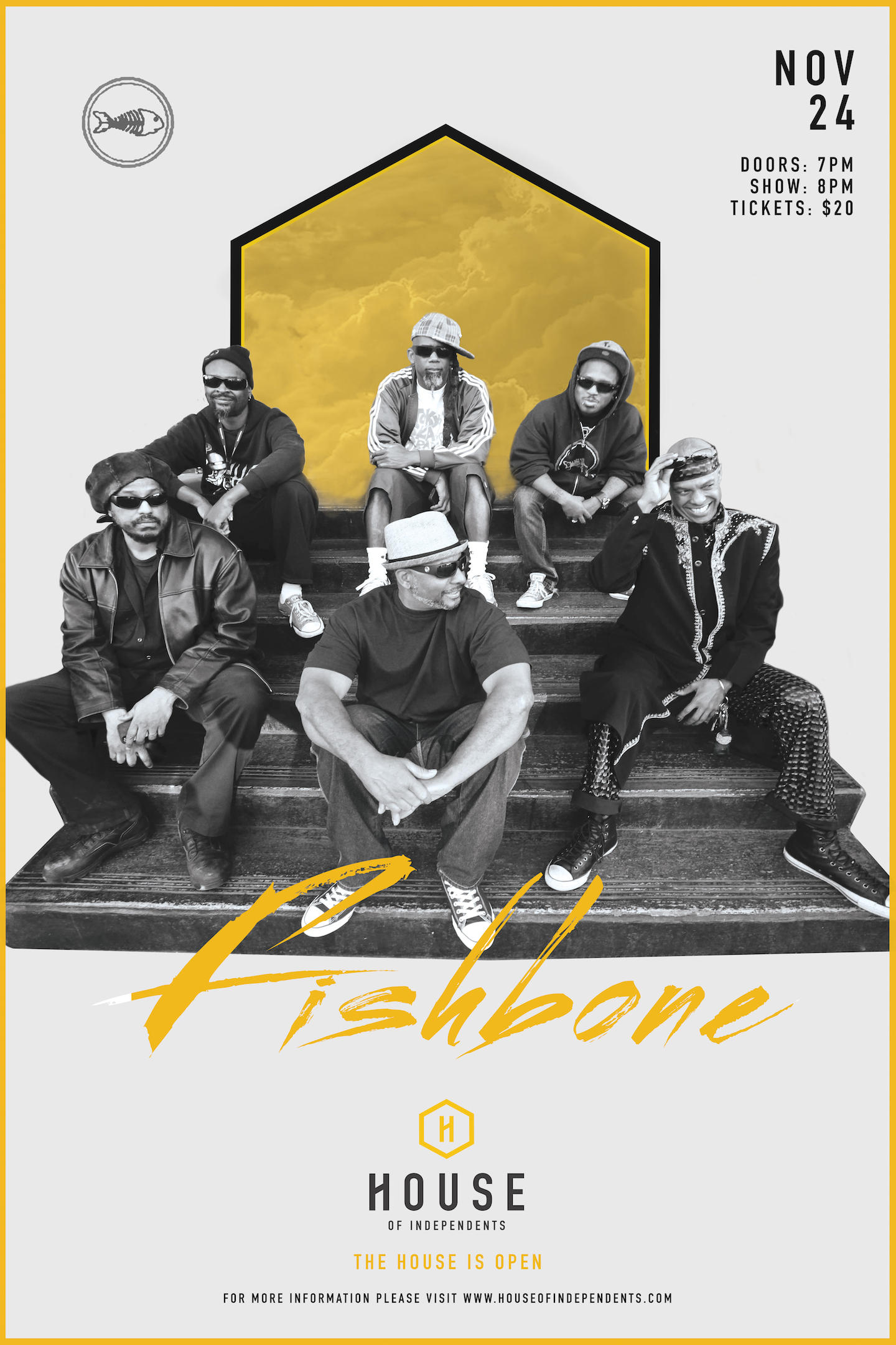 Fishbone Play The Opening Of The House of Independents on 11/24!